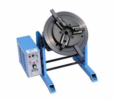 10 30 50KG Table Rotary Welding Positioner Turntable + 3 Jaw Lathe Chuck 230V • 259£