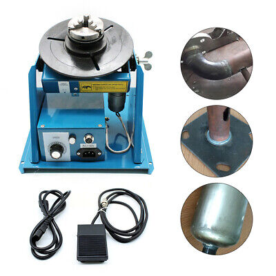 10kg Rotary Welding Positioner Turntable Mini 2.5  3 Jaw Lathe Chuck + Pedal • 229.06£