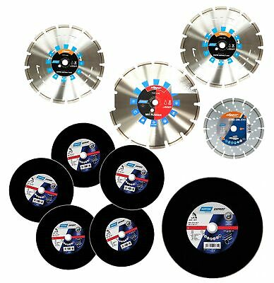 Abrasive Cutting Blade, Diamond Blades & Abrasive Pads 115mm 230mm 300mm 350mm • 28.99£