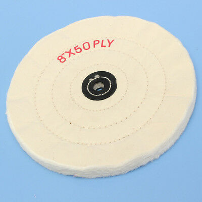 4'' 6'' 8'' White Cloth Buffing Polishing Wheel Arbor Buffer Grinder Polish Pad • 5.68£