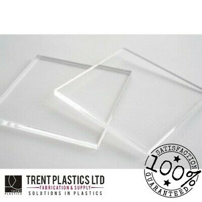 CLEAR Acrylic PERSPEX Sheet Cut To Size Panels Greenhouse Plastic Material • 22.91£