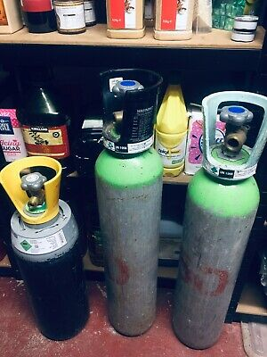 CO2 Gas Bottle Cylinder 10L 200 BAR MIG Welding Gas,for Drinking,Each £99 • 99£