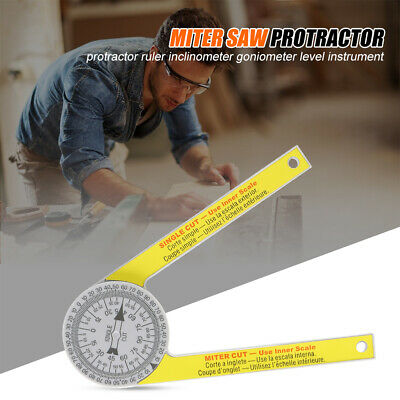 Angle Finder Ruler Miter Saw Protractor Engraved Drawing Measuring  Level Tools • 6.79£