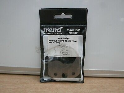 Trend Industrial Spindle Tooling Tool Steel Profile Knives (2) It/3300460 F6004 • 14.41£