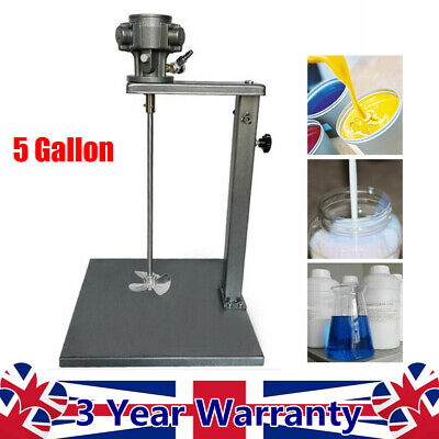 5 Gallon Pneumatic Stainless Steel Putty Powder Mixer Ink Coating Mixing Machine • 116.12£