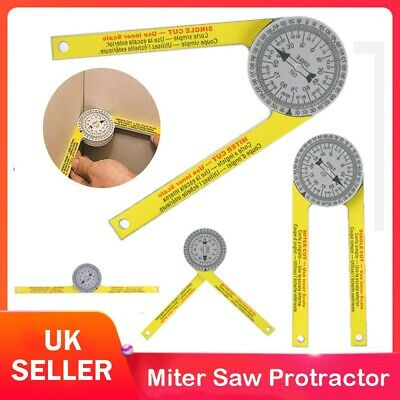 Engineering Pro Miter Saw Protractor Angle Finder Rule Degree Measurement Ruler • 6.79£
