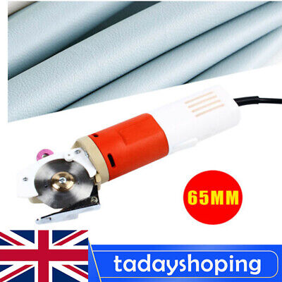 220V Electric Cloth Cutter Round Blade Fabric Leather Cutting Machine 65mm UK • 45.55£