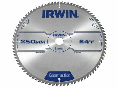 IRWIN General Purpose Table & Mitre Saw Blade 350 X 30mm X 84T ATB • 97.32£