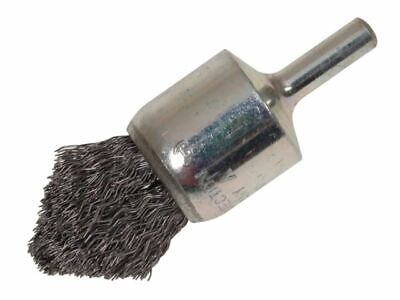 Lessmann Pointed End Brush With Shank 23/68 X 25mm 0.30 Steel Wire • 13.77£