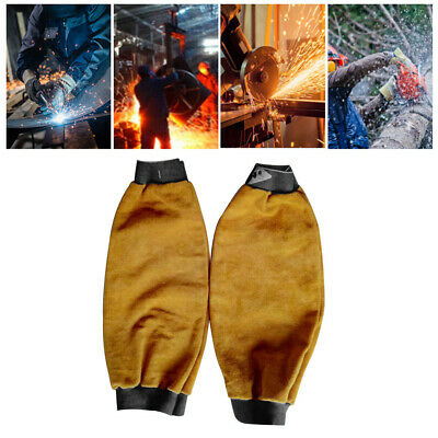 Leather Welders Sleeves Welding Sleeves Stick Arms Welding Protect Flame 1 Pair • 11.02£