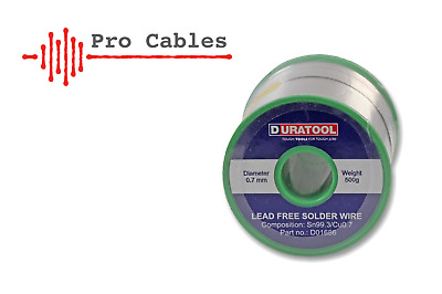 0.7mm 1.2mm Lead Free Solder Wire Fluxed Core 50g / 100g / 250g / 500g  • 10.30£