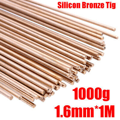1000g Silicon Bronze Tig Brazing Filler Rods Brass Weld 1.6mm 100cm/39.4  Length • 22.19£