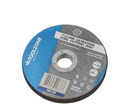 Ultrathin 115mm X 1mm Metal Steel Cutting Discs For 4-1/2  Angle Grinders • 141.99£