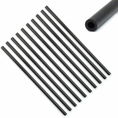 5/10pcs Pure Carbon Fiber Tube Round Pipe Matte Surface 100mm Wall 1mm Sticks • 14.29£