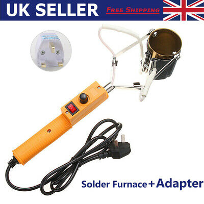 380W Electric Lead Melting Pot Solder Furnace Casting Heads Adjust + Adapter New • 19.70£