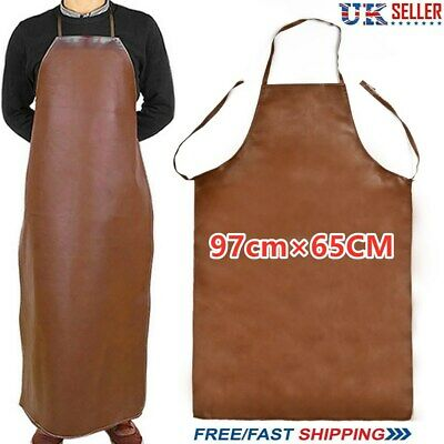 Welder Welding Protection Leather Gloves Gauntlets Long Apron Blacksmith Clothes • 12.99£