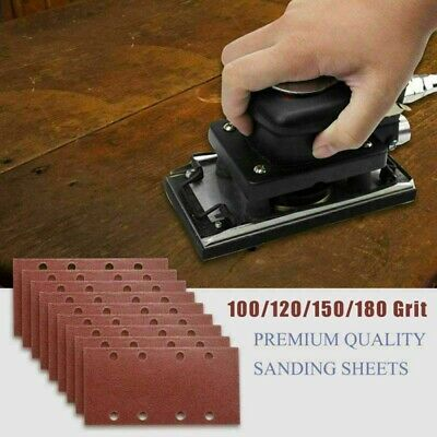 100/120/150/180 Grits Sandpapers Punched Sanding Sheets Pads High Quality • 4.06£