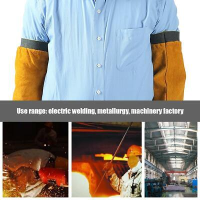 Leather Welding Work Sleeves Non-stick Liner Heat Flame Resistant Arm Protection • 12.39£