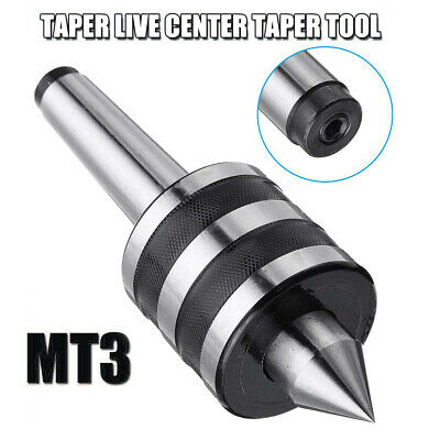 MT3 Taper Live Center Triple Bearing Cnical CNC Cutter Lathe Metalworking Tools • 29.84£