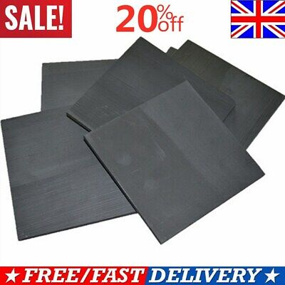 5pc 99.99% Pure Graphite Electrode Rectangle Plate Sheet Set Replacement Part UK • 9.49£