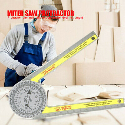Pro Miter Saw Protractor Scale Angle Finder Rule Degree Measurement Ruler Tools • 4.76£