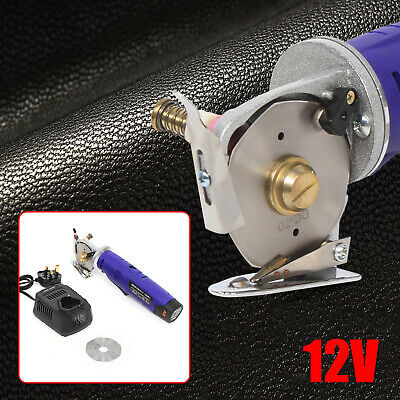 Electric Rechargeable Round Cutter Leather Fabric Cutting Machine Rotary Blade • 76.03£