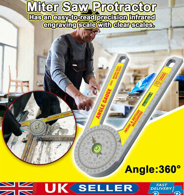 Angle Finder Goniometer Measuring Ruler Miter Saw Protractor Level Drawing Tools • 7.99£