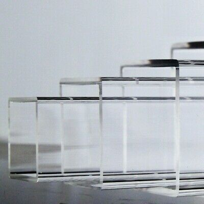 Select 10 - 170mm Square Clear Acrylic Plexiglass Lucite Plastic Tube 200-500mm • 13.50£
