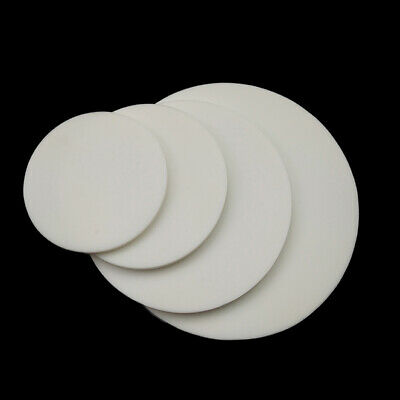 85mm~184mm Dia Round Silicone Rubber Sheet Mat Heat Resist 5mm Thick White/Black • 13.45£