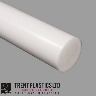 Natural ACETAL Round Rod Bar WHITE Copolymer Delrin MANY Sizes And Lengths • 24.93£