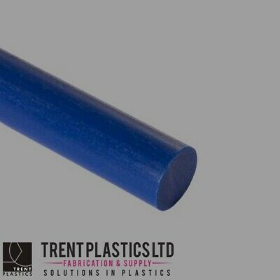 Blue ACETAL Round Rod FOOD Grade Bar Copolymer Delrin MANY Sizes And Lengths • 157.10£