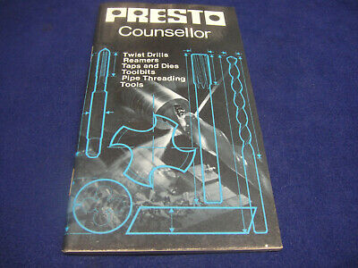 Presto Precision Engineers Metric Data Book Charts Reference Tables Drill Tap • 11.99£