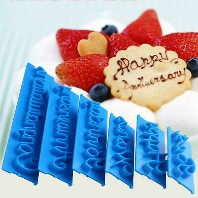 Happy Birthday Silicone Mould Cake Decoration,, Craft T1X6 • 2.53£