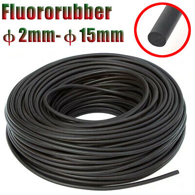 Solid Rubber Fluororubber Hose Seal Round Strip φ2-15mm Oil/Acid/Base Resistant • 18.06£