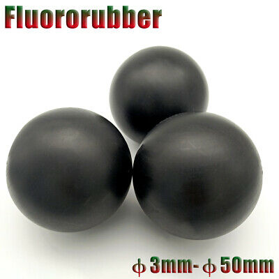 Smooth Fluororubber Solid Ball Black φ3-50mm High Temp/Oil/Acid/Base Resistant • 476.47£